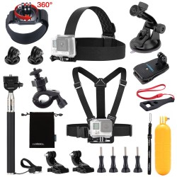 Luxebell Accessories Kit for Gopro Hero 5 4 3+ 3 2 1, EK7000 4K DBPOWER EX5000 Campark Lightdow VicTsing (13-in-1)