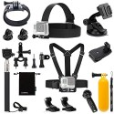 Luxebell Sport camera Accessories Kit for Gopro Hero 5 4 3+ 3 2 1, Action camera (8-in-1)