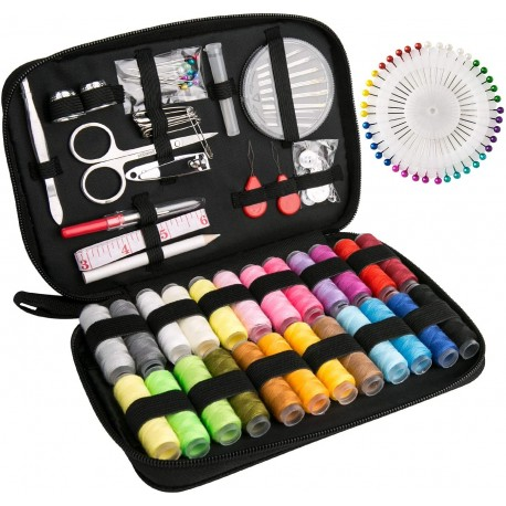 Luxebell Sewing Kit 92 Sewing Accessories Portable Travel Household Needlework Box