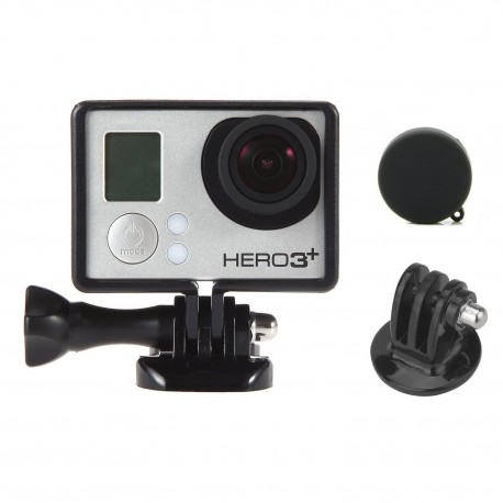 Luxebell Frame Border Mount Housing with Protective Lens Cover for Gopro Hero 4 3+ and 3 with Bacpac Screen or Battery
