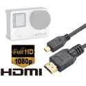 Luxebell High Speed HDMI HD Video Cable for Gopro Hero 5 4 Black Silver 3+ 3 and Sjcam Sj4000 Sj5000 - 5feet/1.5m