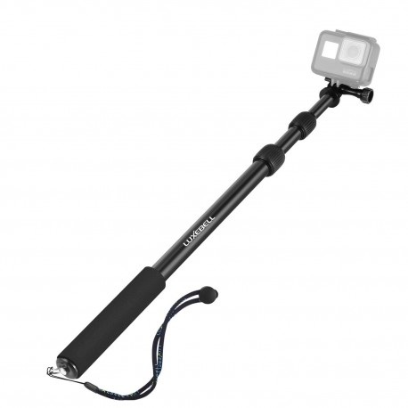"Luxebell Selfie Stick All-aluminum Alloy Handheld Telescopic Pole Monopod for Gopro 5/4/3+/3/2/1/Session (16"" to 40"")"