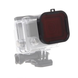Luxebell New Design Underwater Dive Red Filter Lens with LUXEBELL Microfiber Cleaning Cloth for Gopro Hero4,hero3+ Camera