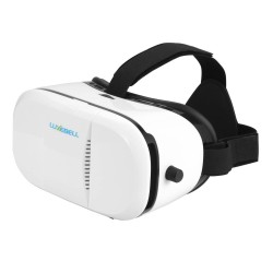 Luxebell 3D VR Glasses Virtual Reality Headset Super2 for 3D Movies and Games (White)