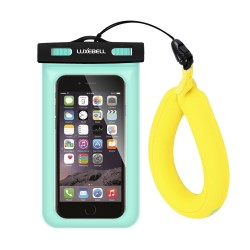 Luxebell Universal Waterproof Case, Universal Floating Wrist Strap,CellPhone Dry Bag for Apple iPhone 6S 6 (Green with Float)