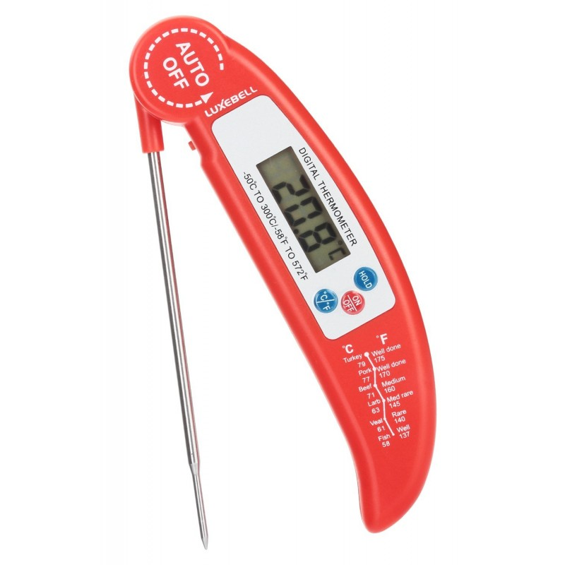 food thermometer luxebell digital instant read meat thermometer probe for kitchen cooking bbq. Black Bedroom Furniture Sets. Home Design Ideas
