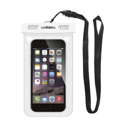 Luxebell® IPX8 25 Meter Universal Waterproof Case CellPhone Dry Bag Pouch for Apple iPhone 6S 6,6S Plus, 5S 7 (White)