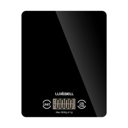 Digital Kitchen scales, Luxebell Professional Touch Electronic Home Scale, Accurate Gram with LCD Display (Black)