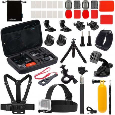 Luxebell Accessories Kit for Gopro Hero 5 4 3+ 3 2 1, AKASO EK5000 Lightdow LD4000 Sjcam J4000 SJ5000 (22-in-1)