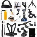Luxebell Accessories Bundle Kit for Sony Action Camera Hdr-AS15 AS20 AS30v AS50 AS100v AS200v Hdr-az1 Mini Fdr-x1000v (14 Items)