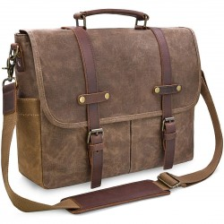 Pertos Waxed Canvas Briefcase