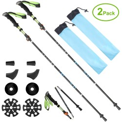 Pertos Anti Shock Hiking,Adjustable Stick Traveling Camping Hiking Mountaineering
